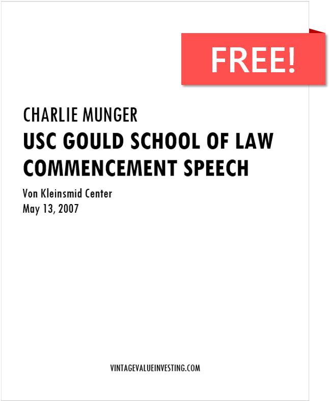Charlie Munger USC Speech - Free