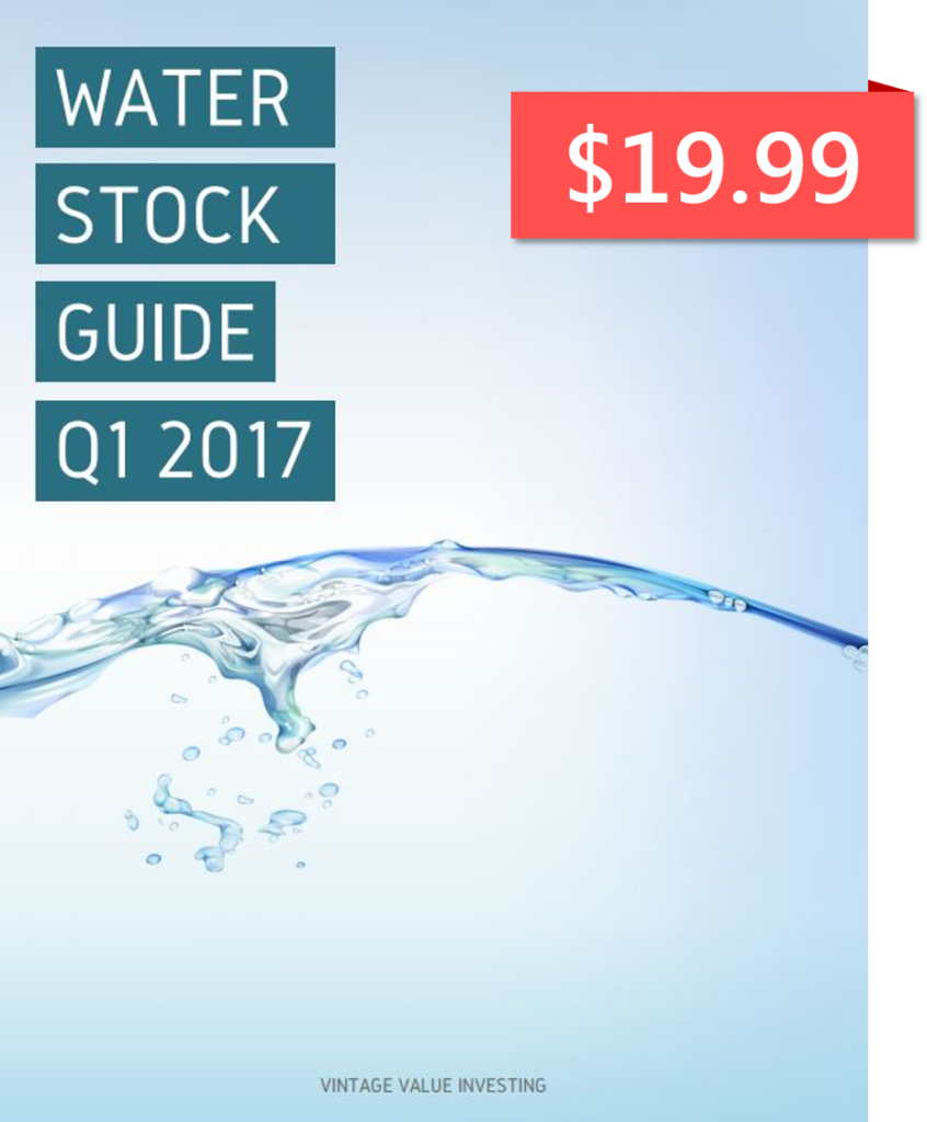 Water Stock Guide Q1 2017 - $19.99