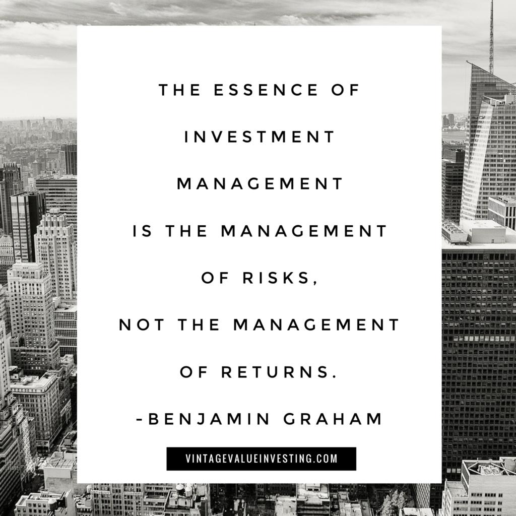 The essence of investment management - Ben graham - vintage value investing